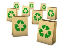 Free Paper Bag Recycle Royalty Free Stock Photography - 8342917