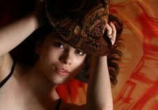 Free The Girl And A Hat. Stock Photos - 8342943