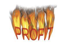 Free Red Hot Profits Royalty Free Stock Image - 8343276