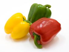 Free Red, Green And Yellow Paprika Royalty Free Stock Photography - 8343287