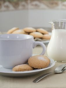 Free Milk With Cookies Stock Photo - 8343880