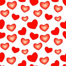 Free Seamless Valentine Pattern Royalty Free Stock Photo - 8344055