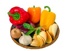 Free Basket With Vegetables. Stock Photo - 8344080