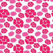 Free Seamless Flower Pattern Royalty Free Stock Photos - 8344088