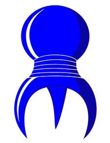 Free Blue 3 Legged Spherical Symbol Royalty Free Stock Photography - 8344187