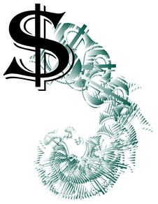 Free Dollar Sign Spiral Stock Images - 8344414