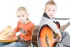 Free Brothers Musicians Royalty Free Stock Photography - 8344417