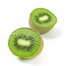 Free Kiwi Halves Royalty Free Stock Photo - 8344465