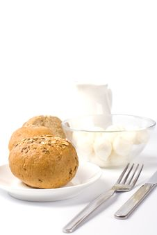 Free Bread, Milk And Mozzarella Stock Images - 8344674