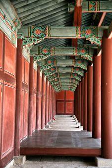 Buddhist Temple Corridors Stock Photography