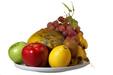 Free Juicy Plate Of Fruits Stock Photo - 8344960