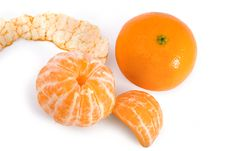 Free Tangerine And Segments Royalty Free Stock Photo - 8345515