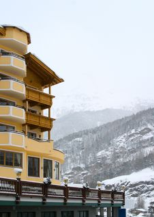 Hotel In Alps Royalty Free Stock Images