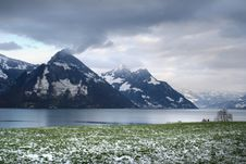 Free Lake And Spring Alps Royalty Free Stock Photos - 8345888