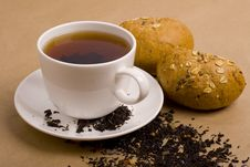 Free Cup Of Tea And Bread Royalty Free Stock Images - 8346019