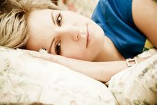 Free Woman In Bed Royalty Free Stock Photo - 8346355