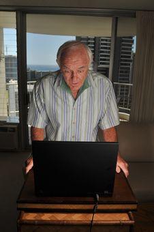 Free Laptop User Is Suprised Royalty Free Stock Photo - 8346665