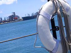 Lifesaver On Submarine Stock Image