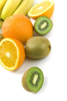 Free Kiwi, Oranges And Bananas Royalty Free Stock Image - 8346816