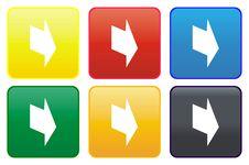 Web Button - Arrow Royalty Free Stock Photos