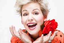 Free Hysterical Blonde Royalty Free Stock Photography - 8347177