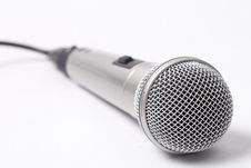 Free One Microphone Over White Stock Images - 8347334
