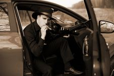 Free Man In Car Stock Image - 8347451