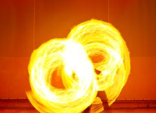 Free A Fire Show Performed On Stage Royalty Free Stock Photography - 8348027