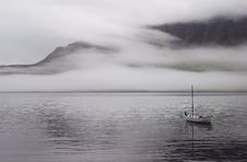 Free Fog On The Fjord Stock Image - 8348611