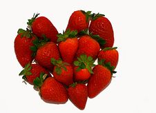 Symbol Heart Made Of Strawberry