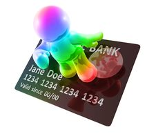 Free Surfing On A Credit Card Stock Photography - 8349612