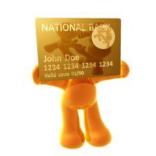 Free Endorsing  Credit Card Royalty Free Stock Photos - 8349728