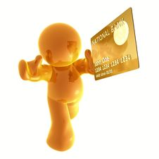 Free Endorsing  Credit Card Stock Images - 8349784