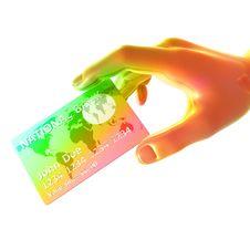 Free Endorsing Colorful Credit Card Stock Image - 8349841