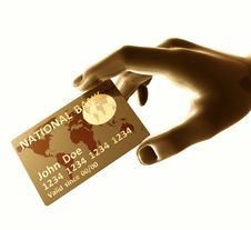 Free Endorsing  Credit Card Stock Image - 8349861