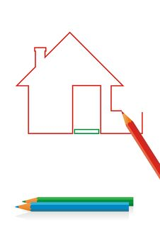 Free House Drawing 2 Royalty Free Stock Photos - 8349928