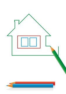 Free House Drawing 3 Stock Photo - 8349960