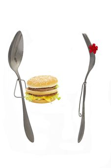 Free Spoon And Fork. Royalty Free Stock Photo - 8349995