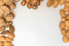Various Types Of Nuts Royalty Free Stock Photography