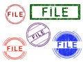 Free 5 Grunge Stamps - FILE Stock Image - 8353121