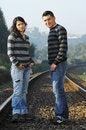 Free Standind On Railway Tracks Stock Image - 8357271
