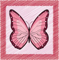 Free Pink Vector Butterfly Royalty Free Stock Image - 8358236