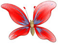 Free Beautiful Butterfly Toy Isolated On White Stock Image - 8359711