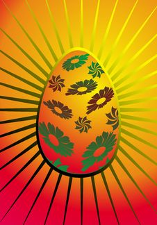Free Easter Illustration With Eggs Stock Photography - 8350242