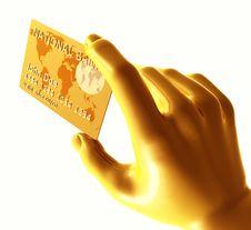 Free Endorsing  Credit Card Stock Image - 8350441