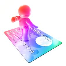 Free Surfing On A Credit Card Stock Photography - 8350602