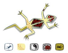 Free Stylized Lizard Royalty Free Stock Images - 8350999