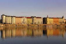 Free Pragues Riverbank In Sunset Royalty Free Stock Photo - 8351505