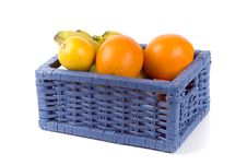 Free Basket With Fruits Royalty Free Stock Photography - 8351767