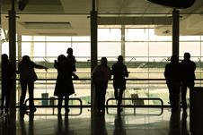 Free People In The Airport Royalty Free Stock Image - 8352436